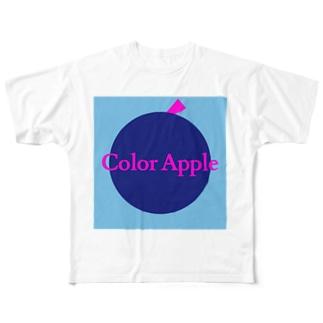 ColorAppleロゴ2 Full graphic T-shirts