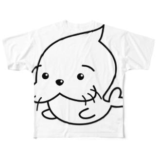 たまおの なかの たまお≡ε< 'ε=} Full graphic T-shirts