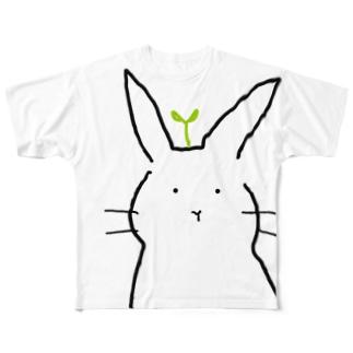 うさぎさん Full graphic T-shirts