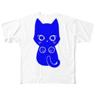 青ねこ フルグラフィックTシャツ