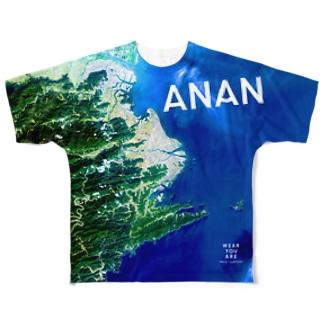 徳島県 阿南市 Tシャツ 両面 Tシャツ 両面 Full graphic T-shirts