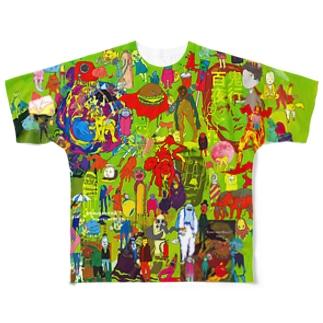 魑魅魍魎Tシャツ Full graphic T-shirts