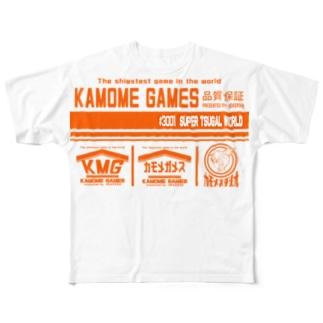 KAMOME GAMES SOFT フルグラフィックTシャツ Full graphic T-shirts