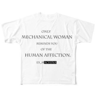 Ex_Machina Tag-Line Style Full graphic T-shirts
