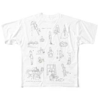 リリー・フォルテナ Full graphic T-shirts