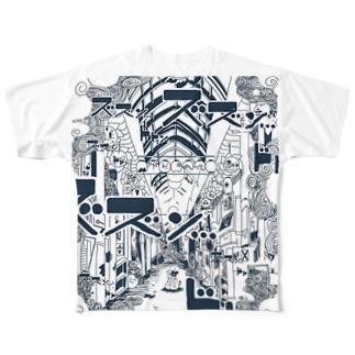 牛の悪夢 フルグラフィックTシャツ