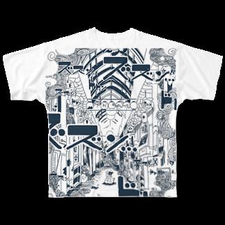 今川宇宙の牛の悪夢 Full graphic T-shirts