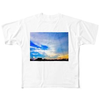 mega醒める宇宙 Full graphic T-shirts