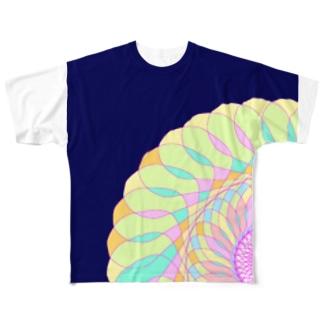 はながたグラフィック Full graphic T-shirts