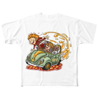 DRIVING  Full graphic T-shirts