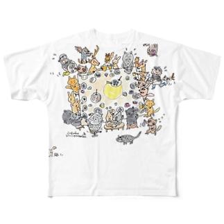 Mokkinテーブル Full graphic T-shirts