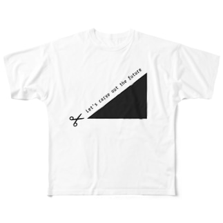 Let's carve out the future! Full graphic T-shirts