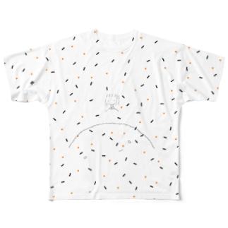 両面ふりかけ Full graphic T-shirts