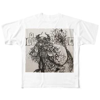 呪われてまで生きるな Full graphic T-shirts