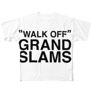 WALK OFF GRAND SLAMS -blk- Full graphic T-shirts