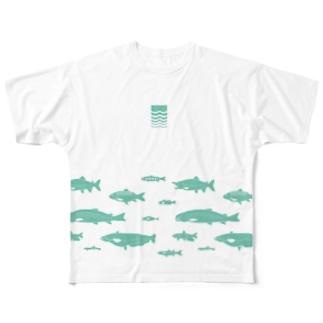 kawazakana フルグラフィックTシャツ