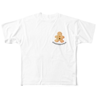 gingerbread man Full graphic T-shirts