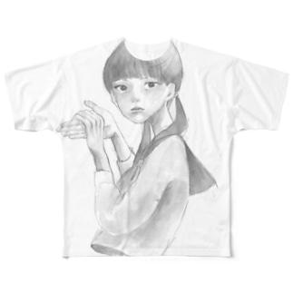 犬子 Full graphic T-shirts