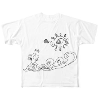 北風と太陽 Full graphic T-shirts
