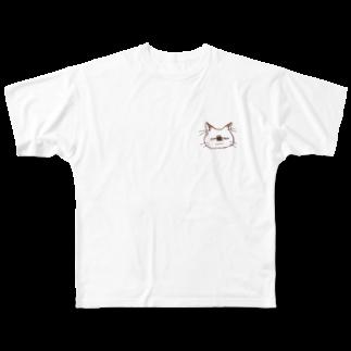 もつ子のねこちゃん Full graphic T-shirts