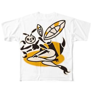 蜂ガール Full graphic T-shirts