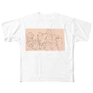 うんどうかい Full graphic T-shirts