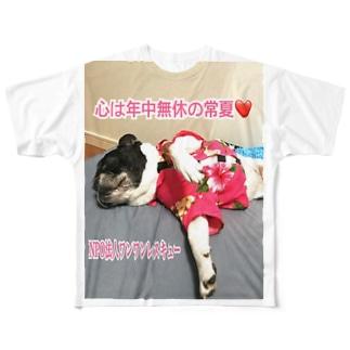 ワンワンレスキュー保護っ子応援❣️ジャスミンちゃん💖バージョン Full graphic T-shirts