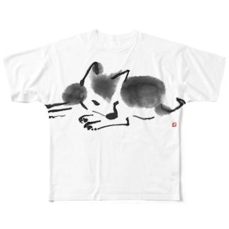 シバイヌsumi-shiba Full graphic T-shirts