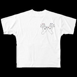 さよならさんかく またきてしかくのおまもりはんズくん! Full graphic T-shirts
