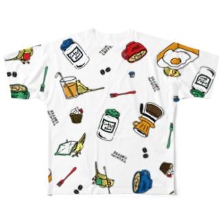 【片面T】つきみさんの おてつだい Full graphic T-shirts
