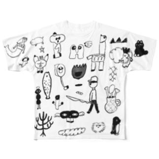 らくがき Full graphic T-shirts