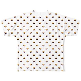 ドット風ウニ(white) Full graphic T-shirts