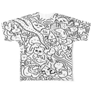 夢(両面印刷) Full graphic T-shirts