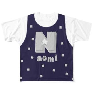 +500円でオーダー Naomi(前後2面プリント) レイヤード  Full graphic T-shirts