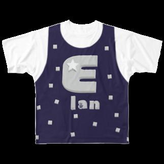 ゴータ・ワイの+500円でオーダー Elan(前後2面プリント) レイヤード  Full graphic T-shirts