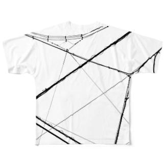 電線2 Full graphic T-shirts
