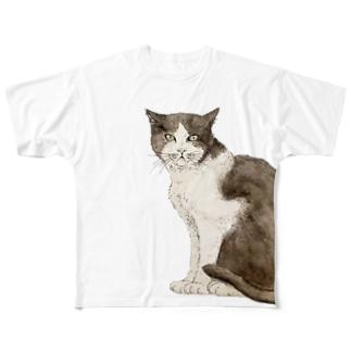 ハチワレさん Full graphic T-shirts