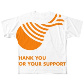 THANK YOU FOR YOUR SUPPORT Full graphic T-shirts