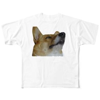 犬の寝顔 Full graphic T-shirts