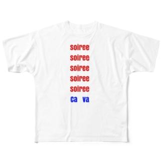 仏語 Full graphic T-shirts