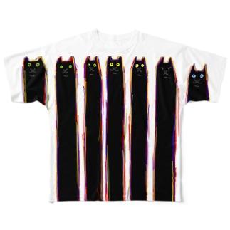 気まぐれストライプ Full graphic T-shirts