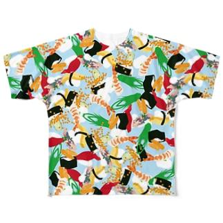 フォーリング寿司 Full graphic T-shirts