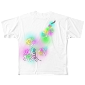 まいにち猫柄 Full graphic T-shirts