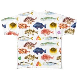 魚大図鑑 Full graphic T-shirts