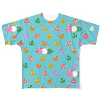 ダンゴウオ大図鑑 Full graphic T-shirts