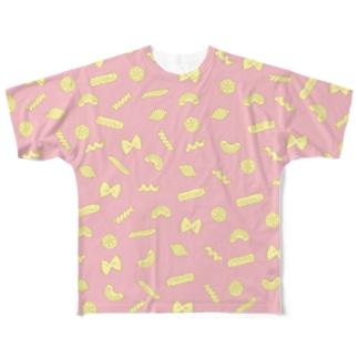 パスタ! ピンク Full graphic T-shirts