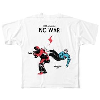 NO WAR Full graphic T-shirts