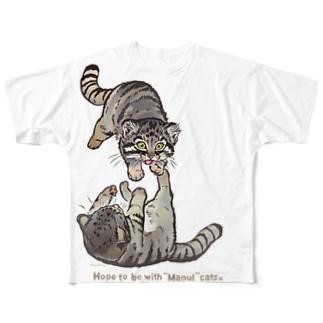 マヌルネコをまとうTシャツ Full graphic T-shirts