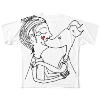 I'm happy to see you. 2 Full graphic T-shirts