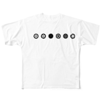 LINED GEAR_Black Full graphic T-shirts